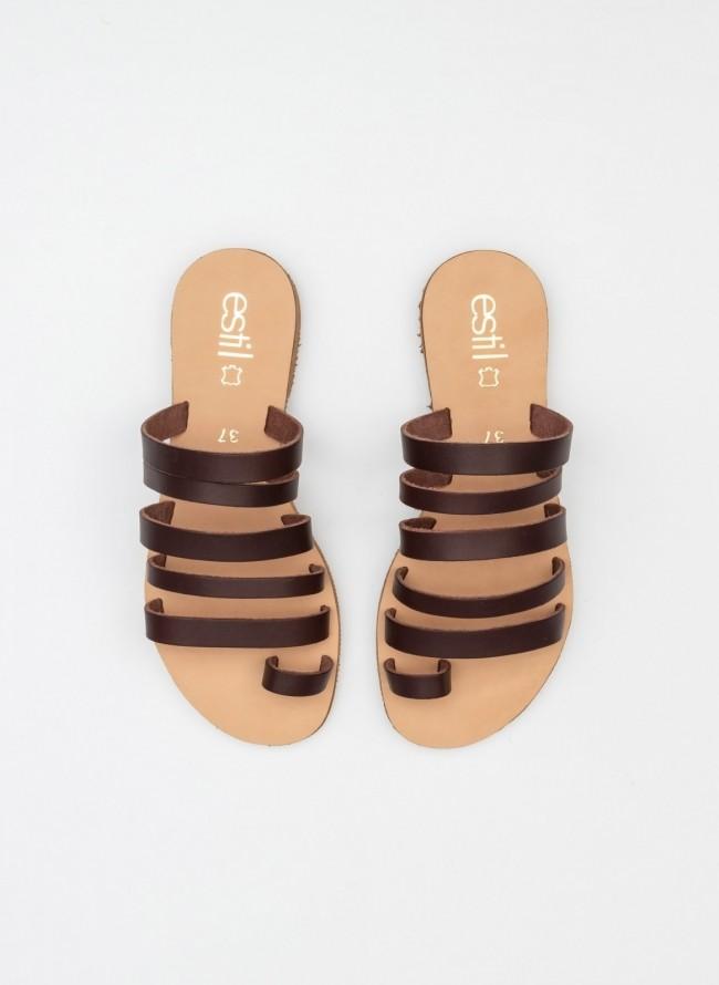 099777ea1da Flat suede σανδάλια με comfort πάτο - Σομόν - TheFashionProject